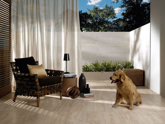Whether your tile is inside or outside, it will be easy to clean up after your pets.