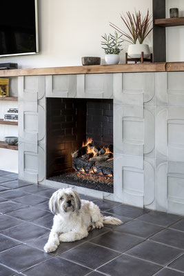 From tile floors to tile fireplaces, tile is full of style.