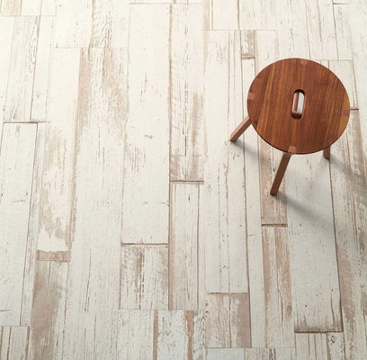 A bright, whitewashed wood look gives you texture and warmth with maximum light.
