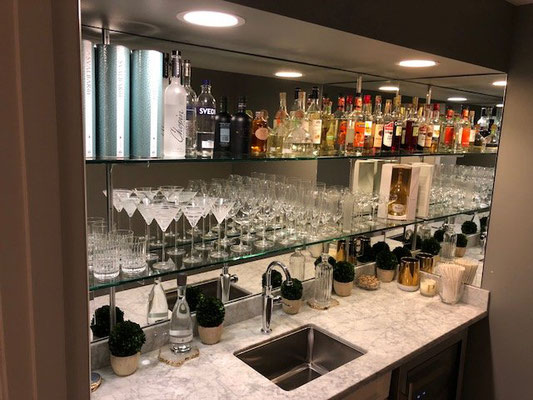 A fully stocked bar is a wonderful thing.
