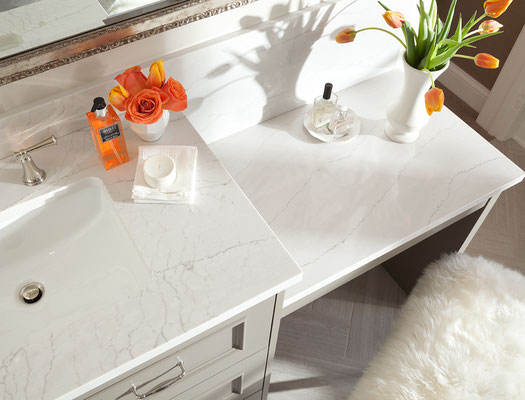 Cambria Ella Quartz captures the look of marble without any of the maintenance issues.