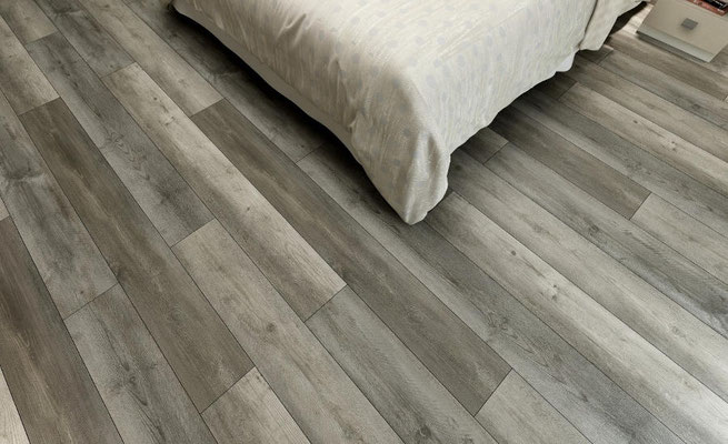 Katella Ash LVT is perfect for bedrooms: not as hard and cold underfoot as tile, more hygienic than carpet.