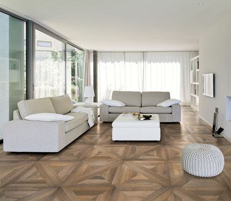 A parquet look is both traditional and chic.