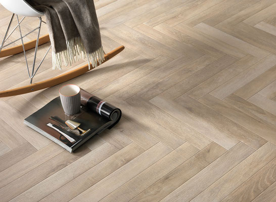 A herringbone doesn't have to be busy! It can be delicate, subtle and light.