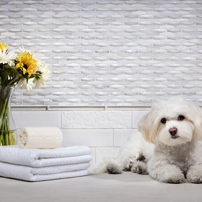 A heated tile floor turns your bathroom a soothing retreat for both you and your best friend.