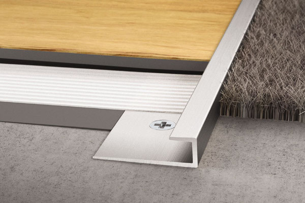 Schluter Vinpro-S will cap and protect the edge of your vinyl tiles. Perfect for transitions to carpet.