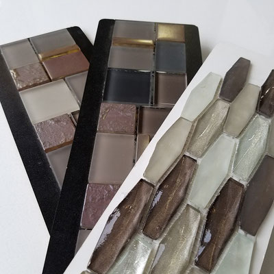 These mosaics all have a good blend of subtle purple tones with other colors such as blue, gray, and taupe.