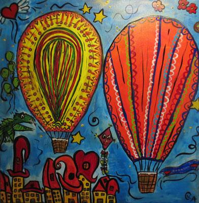 """ Ballonreise "" 40x50cm"