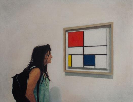 Dans le Musée.( Musée d´Orsay ). Óleo sobre lienzo. 35x27  cms. Año 2021.