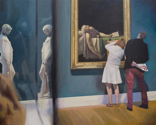 Dans le Musée.( Musée d´art  Brussels). Óleo sobre lienzo. 162x130  cms. Año 2021.