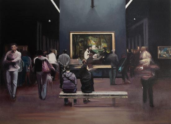 Dans le Musée.( Musée d´Orsay ). Óleo sobre lienzo. 100x73 cms. Año 2020.