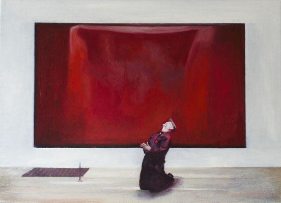 Dans le Musée.( Tate modern). Óleo sobre lienzo. 46x33 cms. Año 2020.