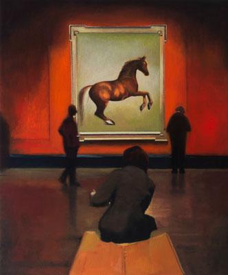 Dans le Musée.( National Gallery ). Óleo sobre lienzo. 65x54 cms. Año 2020.