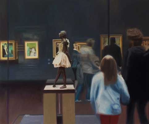 Dans le Musée.( Musée d´Orsay ). Óleo sobre lienzo. 65x54 cms. Año 2020