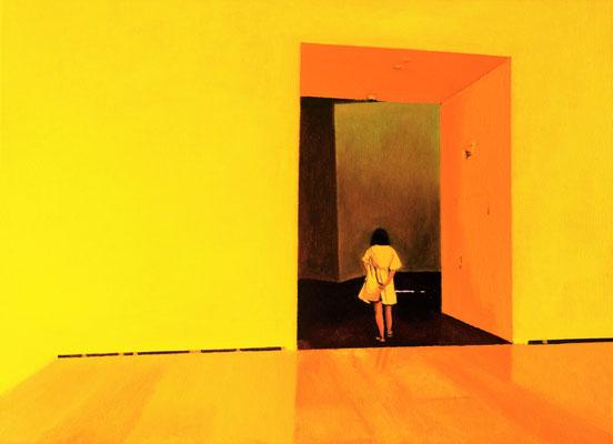 Dans le Musée.( Guggenheim Museoa ). Óleo sobre lienzo. 46x38  cms. Año 2020.
