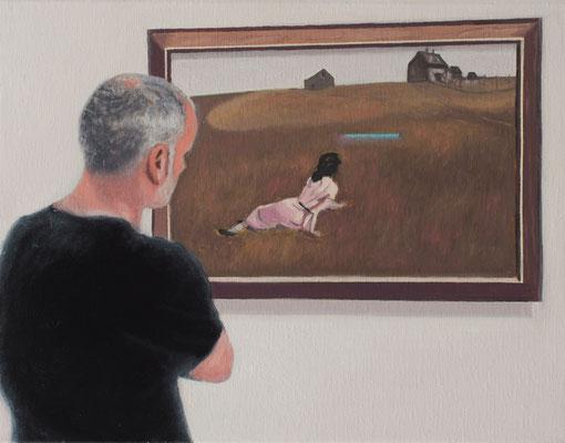 Dans le Musée.( Metropolitan museum of Art ). Óleo sobre lienzo. 35x27 cms. Año 2021.
