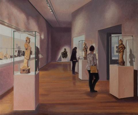 Dans le Musée.( Rijksmuseum ). Óleo sobre lienzo. 65x54 cms. Año 2020.