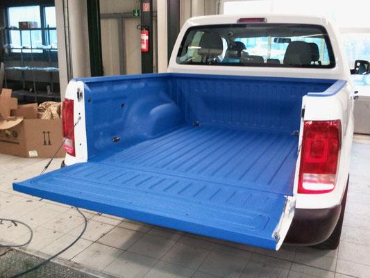 PROTECTAKOTE Antirutschfarbe auf Pickup Ladefläche