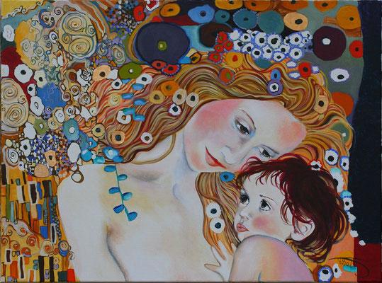 Portraits d'après photos 80x60 - D'après Klimt