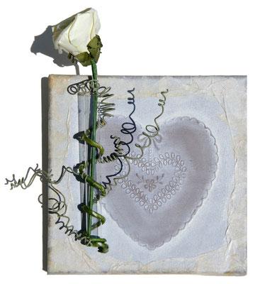 """""""Coeur marié"""" 20 x 20 - 75€"""