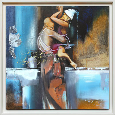 """La danse"" 60 x 60 -  Original Disponible 950€ - Possible en digigraphie ou reproduction sur toile"