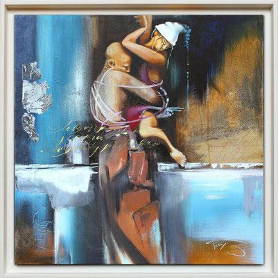 """""""La danse"""" 60 x 60 -  Original Disponible 950€ - Possible en digigraphie ou reproduction sur toile"""