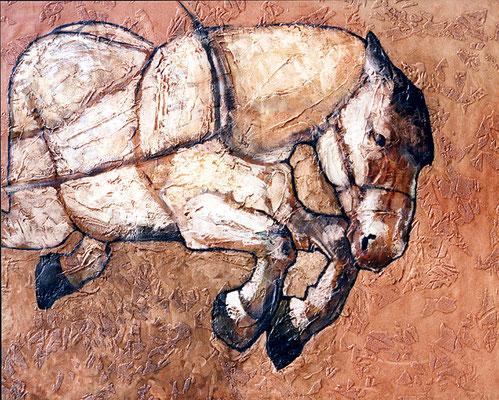«Cheval de trait» - 81 x 100 - sans cadre - 1420€ TTC