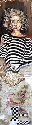 """"""" Haut Koneisbourg"""" - 30 x 120 - 850€  Possible en digigraphie ou reproduction sur toile"""