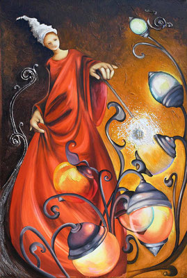 """""""La fée lumière"""" Vendu - Possible en digigraphie ou reproduction sur toile"""