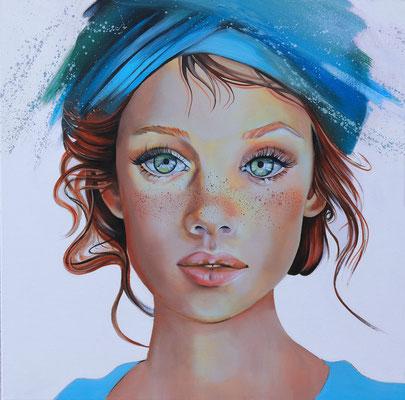 """Calaina"" - 80 x 80 cms - Huile sur toile - 1900€"
