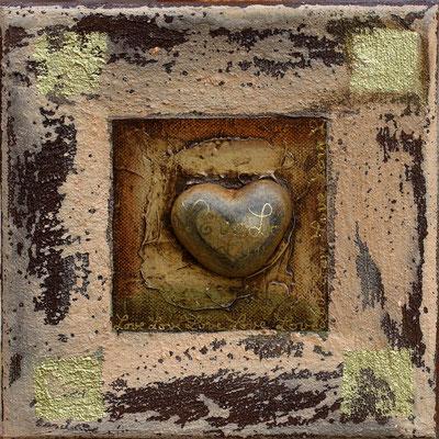 """""""coeur de pierre"""" - 20 x 20 - 75€"""