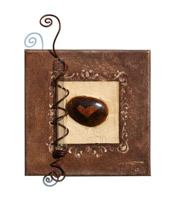 """""""Coeur de caillou"""" 20 x 20 - 75€"""