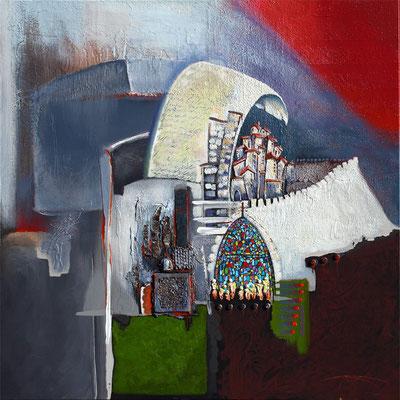 """""""La tour de Babel"""" 100 x 100 - 2300€"""