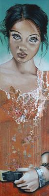 """"""" Freyja"""" - 30 x 120 - Original VENDU -"""