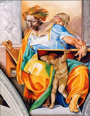 """""""Prophète Daniel"""" 89 x 116 cm - Disponible"""