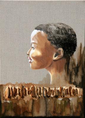 """""""Okou""""  50 x 70 - 840€ - Original disponible - Possible en digigraphie ou reproduction sur toile"""