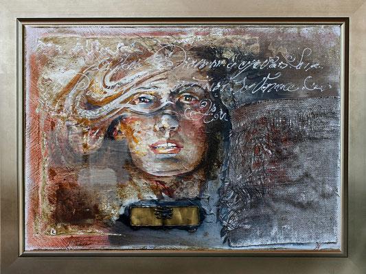 """""""Diane"""" 87 x 50 - 900€ sans cadre - 1250€ avec encadrement - Original disponible - Possible en digigraphie ou reproduction sur toile"""