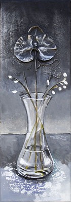 """Le vase"" 20 x 60 - Offert au Rotary -  Disponible seulement en reproduction ou digigraphie®."