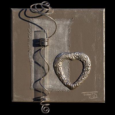 """""""simple coeur"""" - 20 x 20 - 75€"""