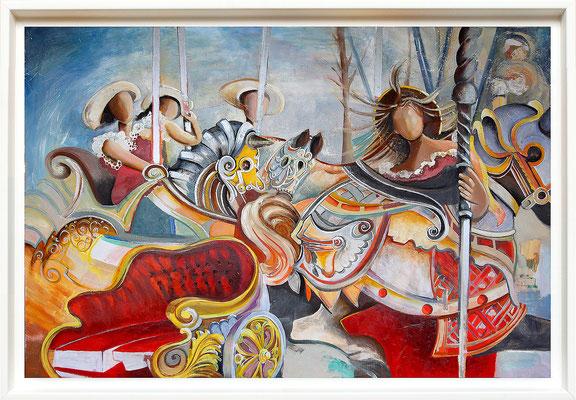 """""""Le manège"""" 96 x 145 - disponible - 2450€"""
