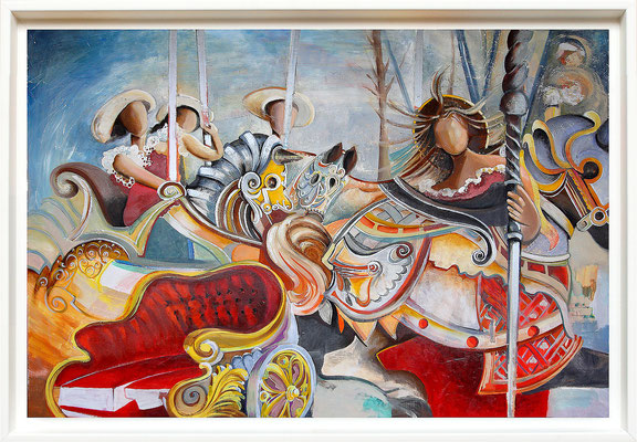 """""""Le manège"""" 96 x 145 - disponible - 2500€"""