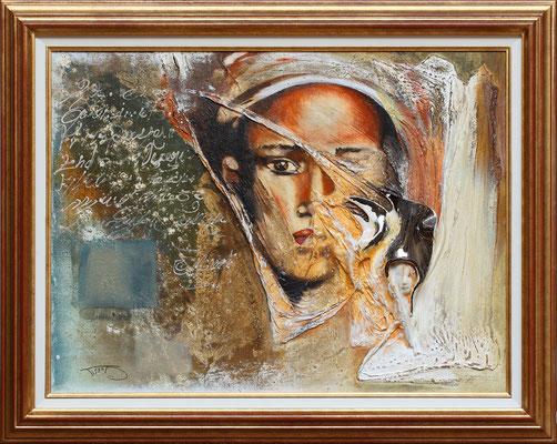 """""""Oualida"""" 80 x 60 - 1020€ sans cadre - 1150€ avec encadrement - Original disponible - Possible en digigraphie ou reproduction sur toile"""