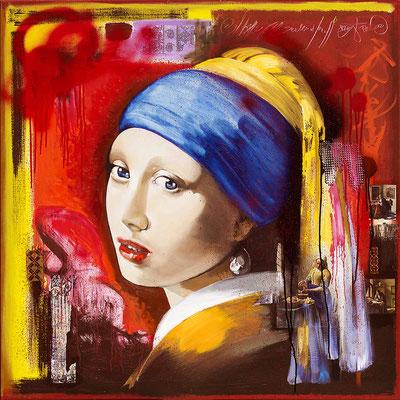 """""""La jeune fille à la perle """" Original vendu -  Possible en digigraphie ou reproduction sur toile numéroté"""
