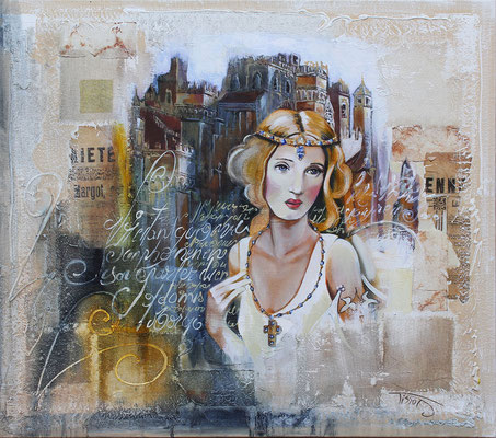 """Margot"" 60 x 70 - Original 938€  - Possible en digigraphie ou reproduction sur toile"