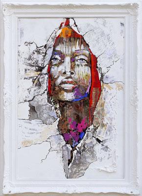 """""""Botemiramur"""" Acrylique et huile sur toile - 60 x 90 - Original disponible cadre non compris - 1770€ - 1950€ avec le cadre."""
