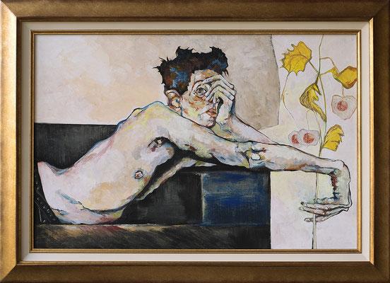 Egon Shiele 54 x 81 - Hommage au peintre - 1300€