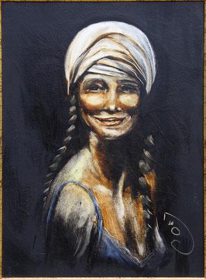 """""""Sortir"""" 46 x 33 - Original disponible - 560€ sans cadre - Possible en digigraphie ou reproduction sur toile"""