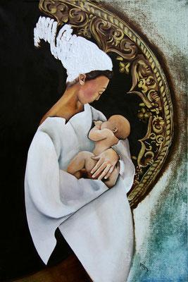 """""""La maternité"""" 54 x 81 - Original non disponible - Possible en digigraphie ou reproduction sur toile"""