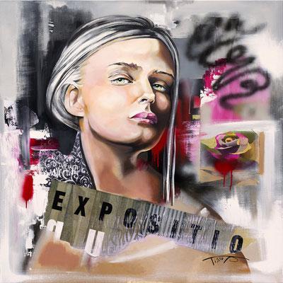 """""""Exposition"""" Original en 120 x 120 : 2200€ - Reproduction sur toile en 100 x 100 : 900€  - Disponible"""