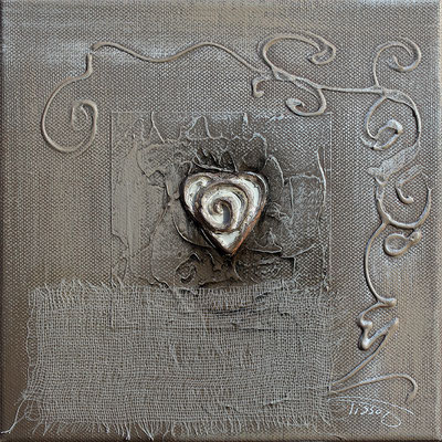 """""""Un coeur simple"""" - 20 x 20 - 75€"""